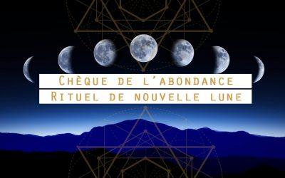 Nouvelle lune le 13 Janvier, préparez votre chèque d'abondance !